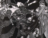 Manuscript Found In A Bottle By Harry Clarke 1933 Edgar Allan Poe Original Horror Illustration To Frame