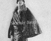 Flapper Ladies Maternity Fashion Coats Capes For Mothers To Be Vintage 1920s Rototogravure To Frame