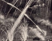 Fireworks Detonation How The Rocket Is Shot Skyward By It's Tail 1920s Children's Science
