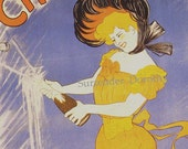 Champagne Delbeck Reims Leonetto Cappiello Paris France Vintage Edwardian Advertisement 1902 Lithograph Poster To Frame