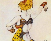 Leon Bakst Costumes Russian Ballet Dancer Lithograph Illustration Edwardian Era Poster Print To Frame