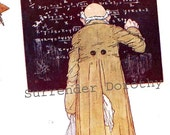 Mathematician Edmund Dulac  Teacher 1927 Vintage Children's Illustration Print To Frame