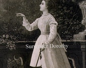 Goodbye Darling Victorian Woman Fashion Courtship 1879 Original Antique Engraving To Frame