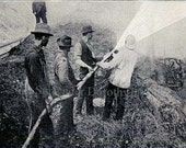 Forest Fire Fighters USA National Park Service 1912 Photo Illustration To Frame