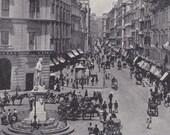 1890 Toledo Street, Naples Italy.  Amazing Rotogravure Illustration