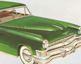 1952 Chrysler Imperial Two Door Coupe Classic Car Vintage Advertisement To Frame