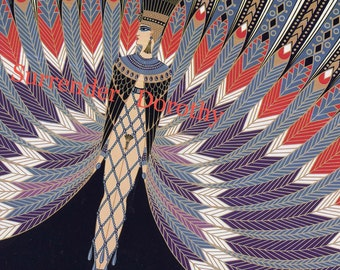 The Nile Costume 1920 Litho Print By Erte' Perfect For Framing