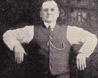 Chubby Guy Demonstrates Proper Breathing 1908 Vintage Edwardian Health Fitness Illustration To Frame
