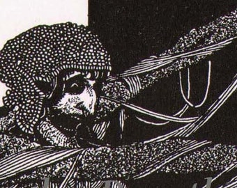 Lady Madeline Of Usher Harry Clarke 1933 Edgar Allan Poe Original Vintage Illustration To Frame