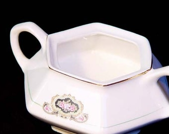 French Company Martha Washington Open Sugar Bowl Rare Antique China 1887