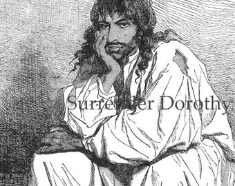 Siberian Prisoner Hunky Man Victorian Era 1892 Engraved  Illustration To Frame