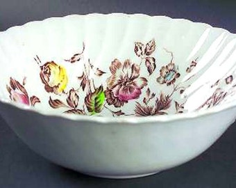 Vegetable Bowl Johnson Bros Staffordshire Bouquet  Retro 1970s USA Vintage Kitchen Floral China
