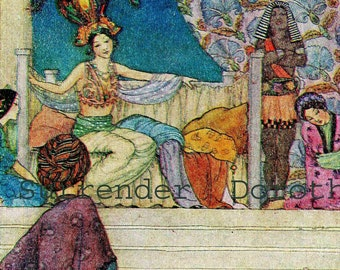 Tales Of The Arabian Nights Florence Mary Anderson 1927 Children's Fairytale Illustration To Frame