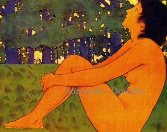 Midsummer Holiday August for Century Magazine by Maxfield Parrish Art Nouveau Poster Print To Frame