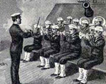 Sailors USN United States Navy 1928 American Men Vintage Military Chart  Illustration To Frame