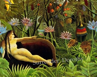 Henri Rousseau The Dream 1910 Art Masters Color Lithograph Poster Print To Frame