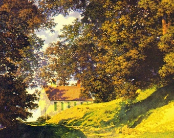 Country School House By Maxfield Parrish 1930s Art Nouveau Lithograph Poster Print To Frame