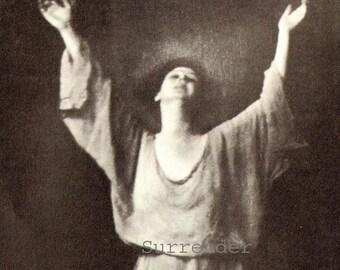Isadora Duncan Modern Dance Portrait Photo Illustration Vintage Edwardian Black & White Classic Print To Frame