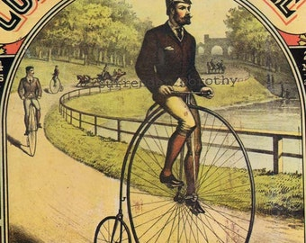 Colombia Bicycles & Last Days Of Pompeii 1890s Victorian Era Advertisement Poster To Frame