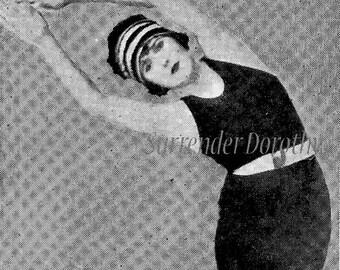 Bending Stretching Exercises For Flapper Women 1920s Roaring Twenties Fitness Chart