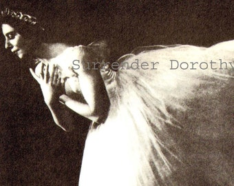 Alicia Markova In Giselle Ballerina Dance Portrait Photo Illustration Black and White Classic Print To Frame