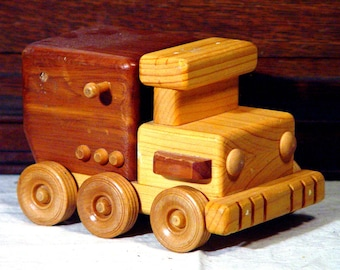 Toy Truck Wooden Handmade Preschool Plaything Home Decor 1970s