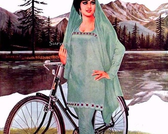 Atlas Bicycle Advertisement From India 1971 Lithograph Poster Transportation Ad To Frame