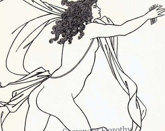 Apollo Pursuing Daphne Aubrey Beardsley 1886 Victorian Era  Vintage Illustration To Frame