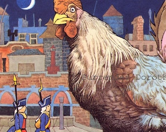 Maurice Sendak Kenny's Window Music By Wolfgang Amadeus Mozart Huge Chicken Vintage Children's Nursery Poster To Frame