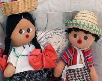 Boy & Girl Twin Dolls Mexico Traditional Costumes Manuel and Margarita