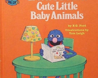 Grover's Book Of Cute Little Baby Animals Children's Television Network 1980