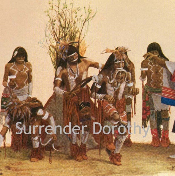 Hopi Snake Rain Dance Native American Vintage Rotogravure 1920s Print To Frame