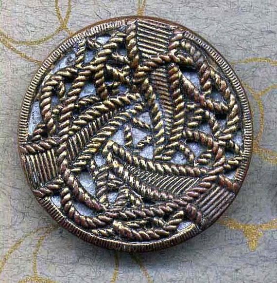 Twinkle Button Large Cut Steel Antique Fashion