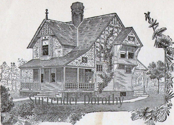 Small cottage house plans 1881 antique victorian architecture Victorian cottage plans