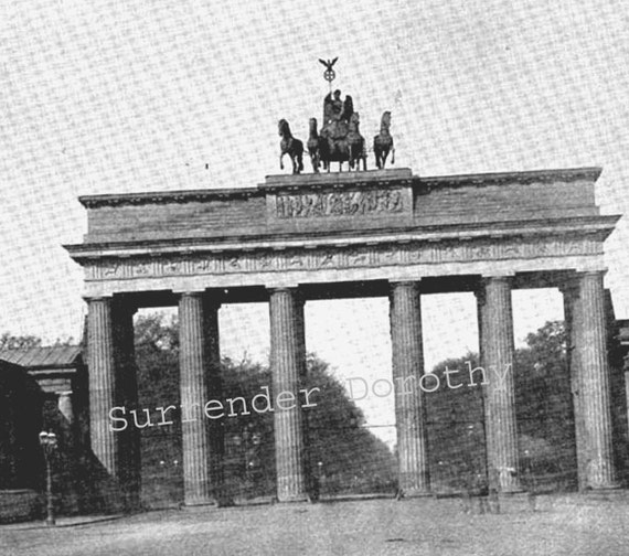 Brandenburg Gate Berlin Germany 1890 Rotogravure Photo Victorian Era Architecture Illustration To Frame