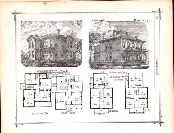 Second Empire Italianate Style Floor Plans House Design