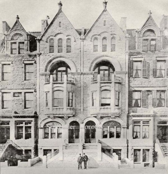 Brownstone Row Houses West Side New York Usa By