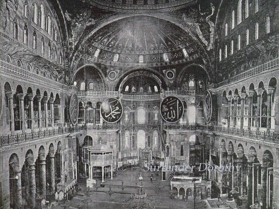 Mosque Of St Hagia Sophia Constantinople Turkey 1890