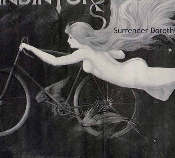 Gladiator Bicycle Art Nouveau Advertisement 1895 Victorian Era Lithograph Poster Ad To Frame