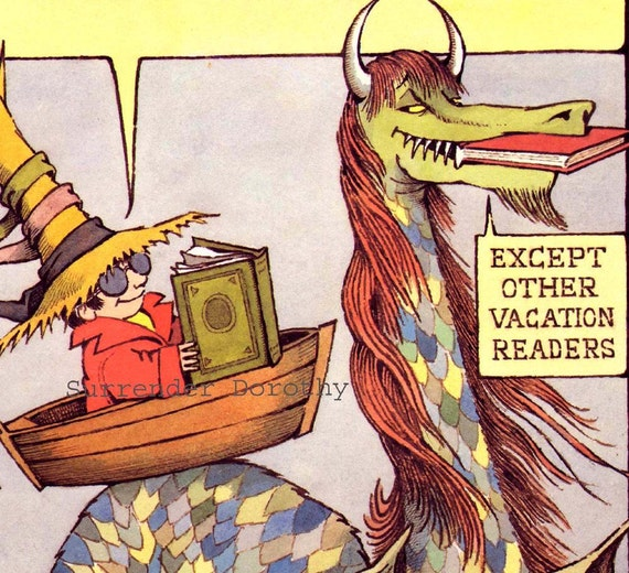 Vacation Readers Have More Fun Maurice Sendak Original Nursery Poster To Frame