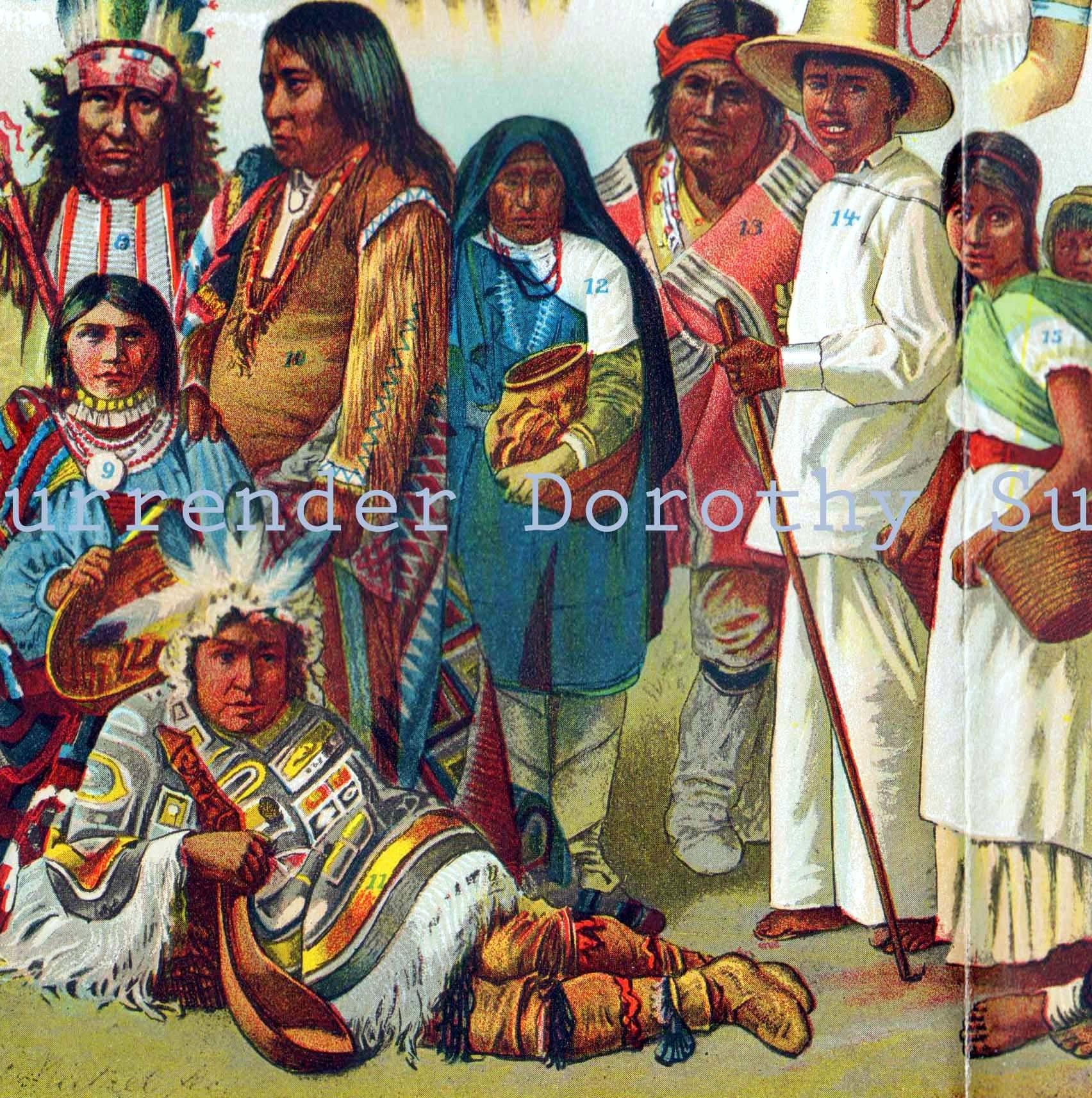 native people 1906 north u0026 south american indians vintage