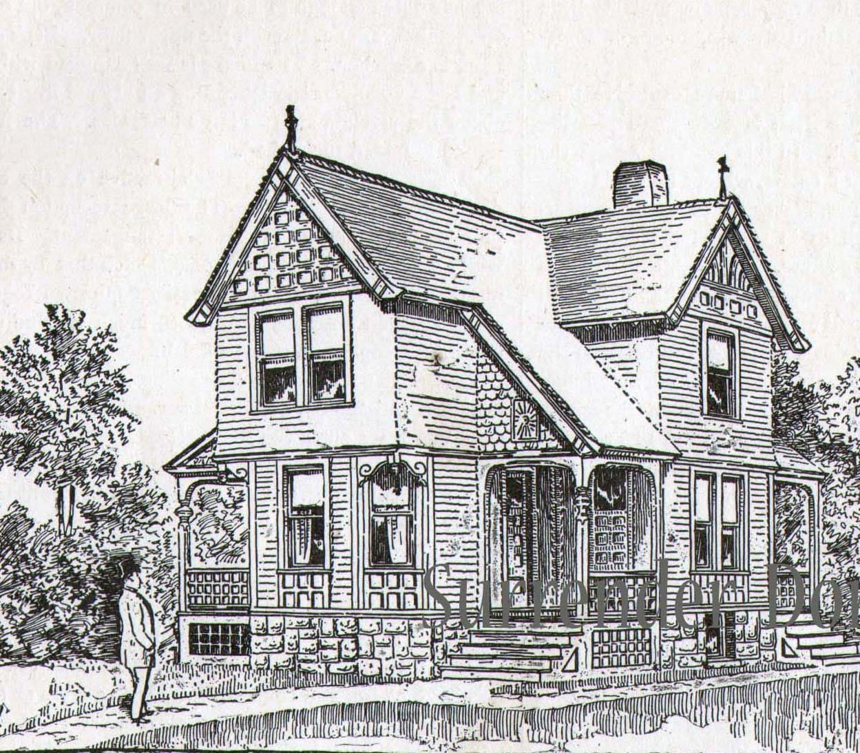 Small cottage house plans 1881 antique victorian home for Historic bungalow house plans