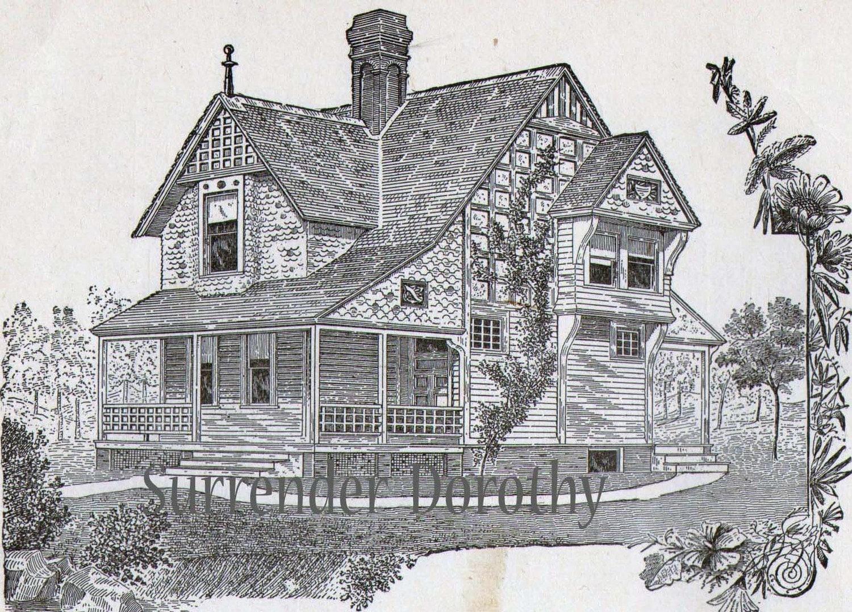 Small Cottage House Plans 1881 Antique Victorian Architecture