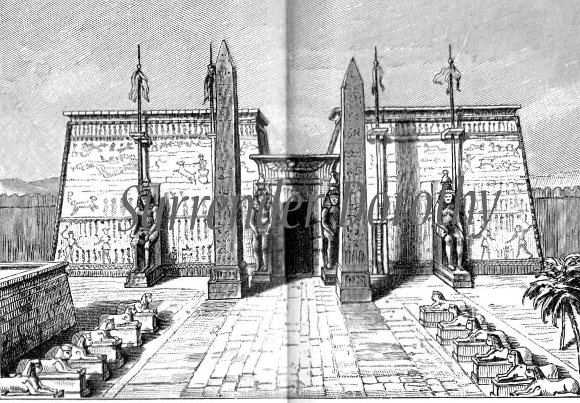 Ancient Egyptian Interior Architecture ancient egyptian architecture antique 1906 edwardian steel