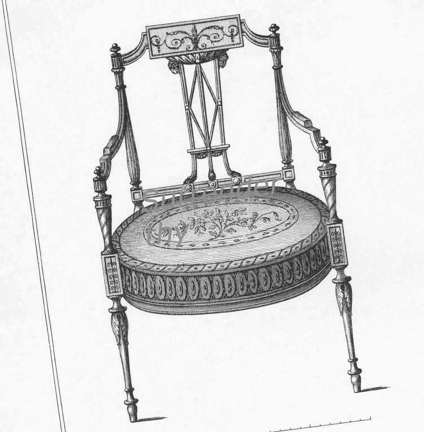 Drawing room chairs thomas sheraton furniture design drawing for Drawing room furniture design