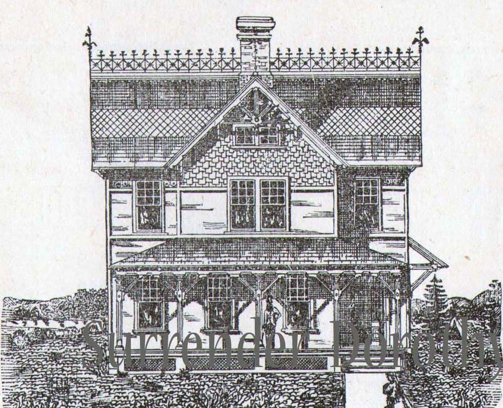 Gothic Gingerbread Cottage House Plans Vintage 1881 Antique
