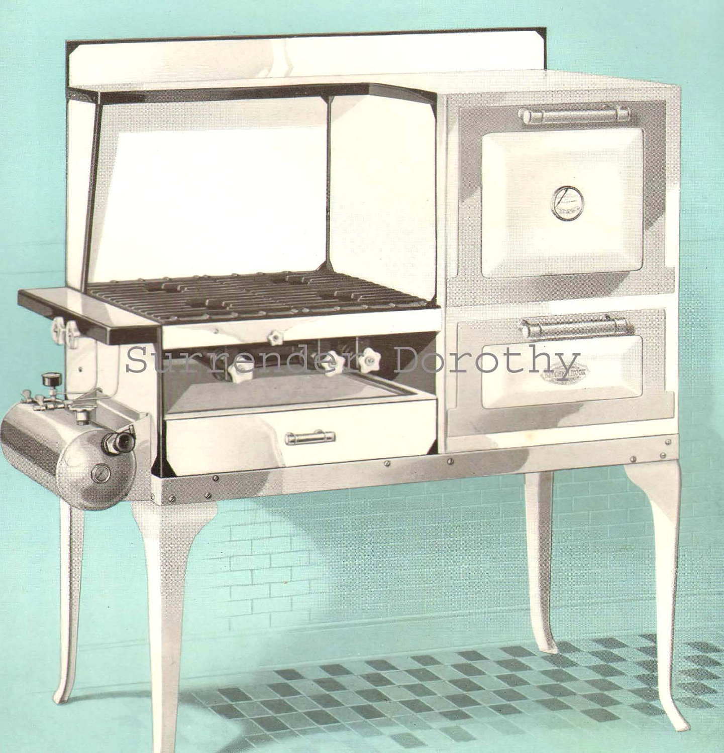 modern gas range stove for flapper moms 1927 vintage kitchen