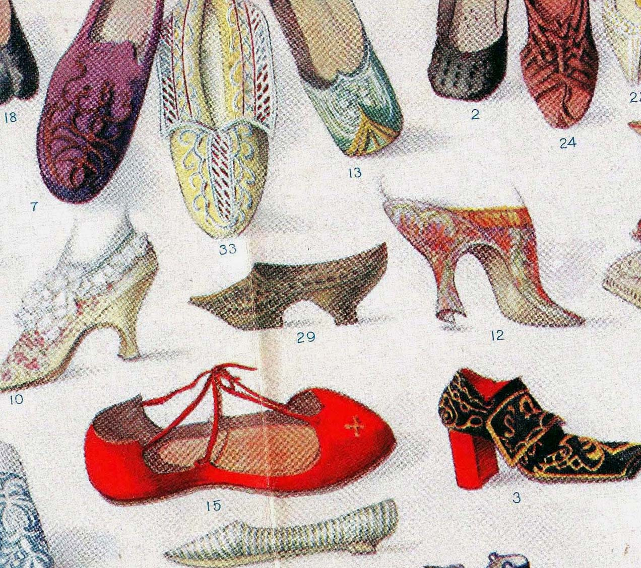 shoes throughout history fabulous foot fashion chart