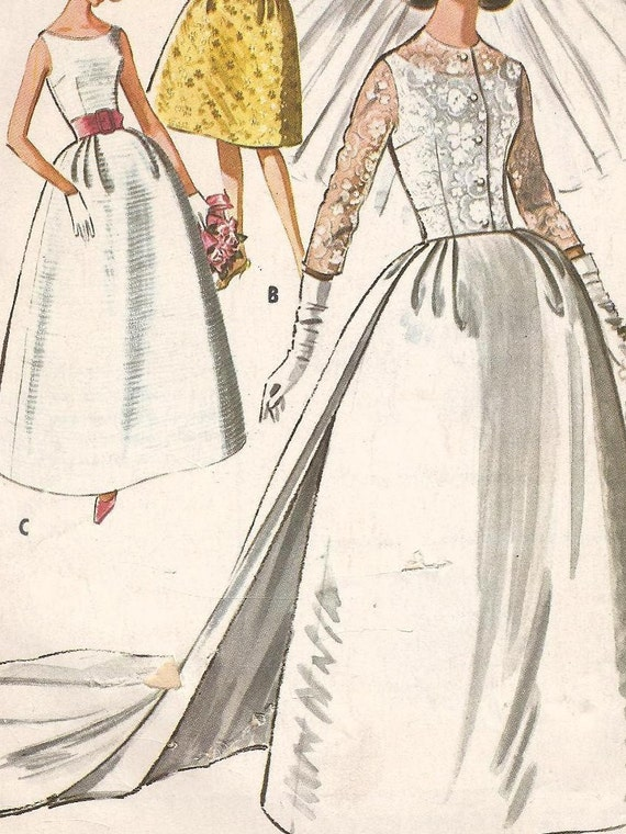 1960s MCCALLS Pattern 6005 Bridal Gown Wedding By MarcieEcks