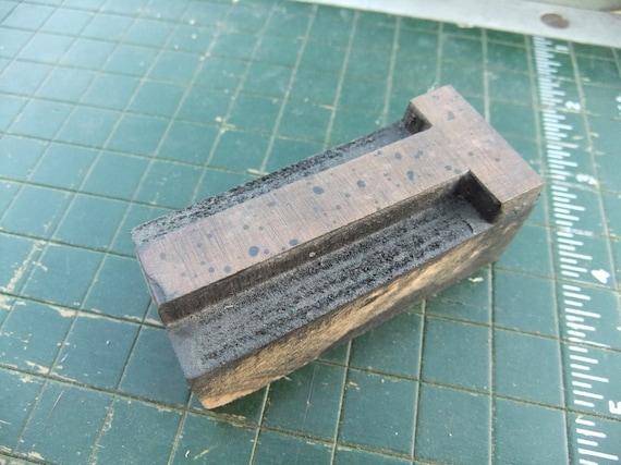 vintage wood block letterpress typeset font letter
